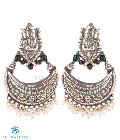The Alampata Silver Chand Bali Earrings