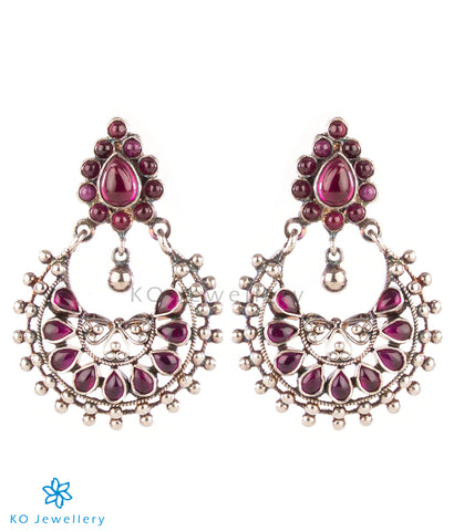 The Amita Silver Chand Bali Earrings (Oxidised)