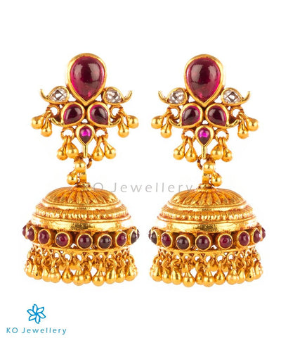 Handmade jhumka gold polish jewellery designs