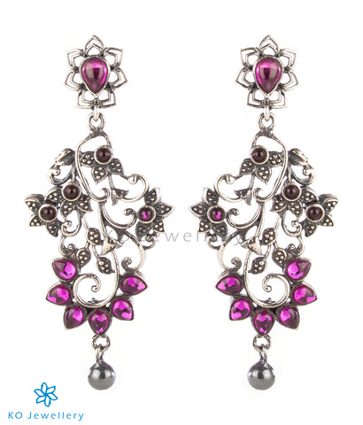 The Shobhit Silver Earrings (Oxidised)