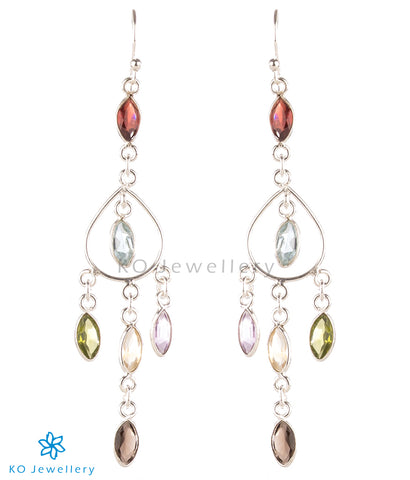 The Abhit Silver Gemstone Earrings
