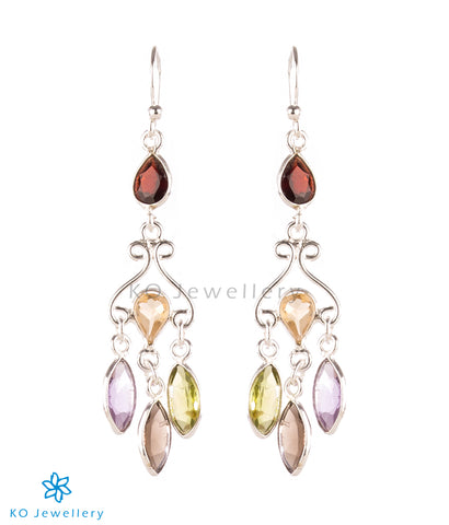 The Ameya Silver Gemstone Earrings