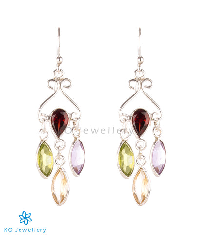 The Nysaa Silver Gemstone Earrings