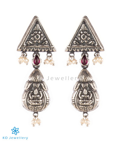 The Shreya Silver Earrings