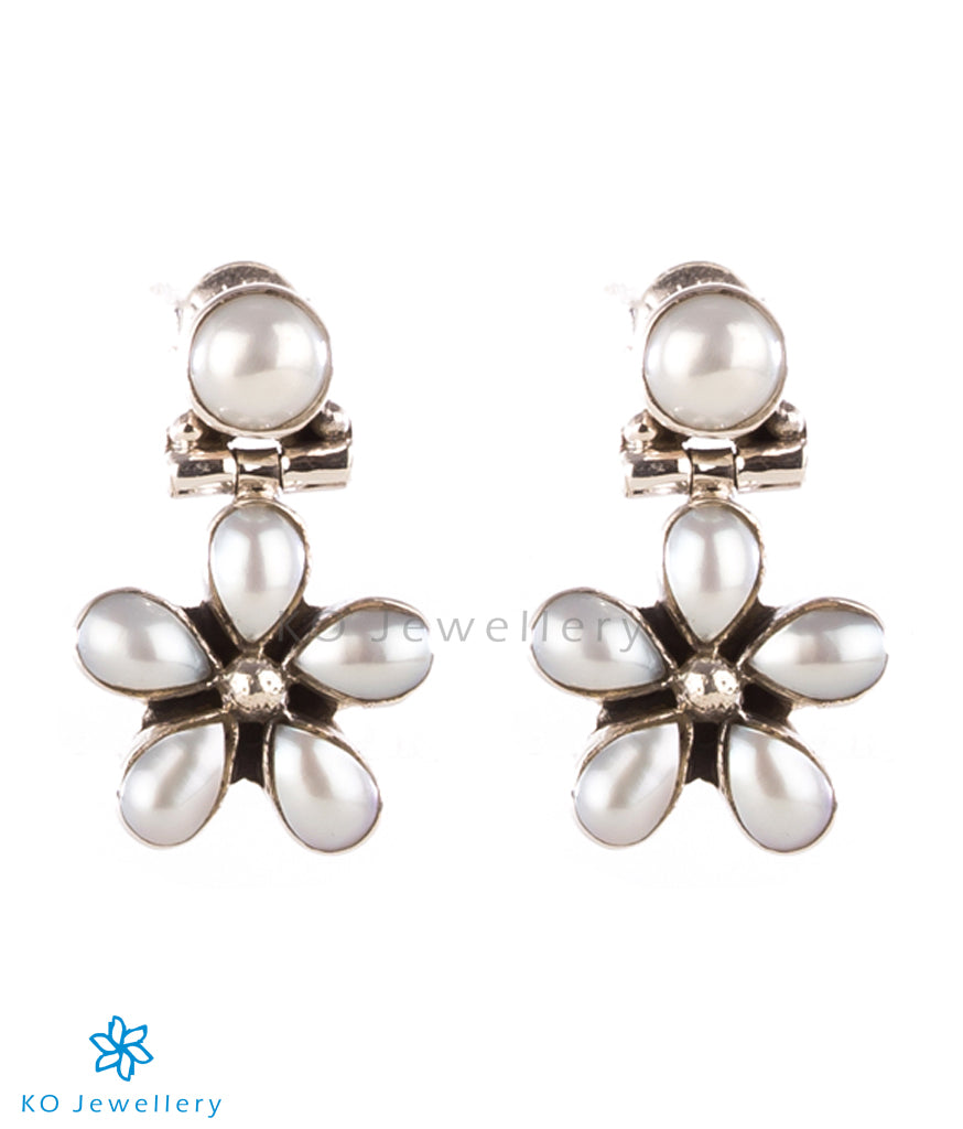 for products jewellery sterling the alankrita pearl silver oxidised women p sliver ko earrings