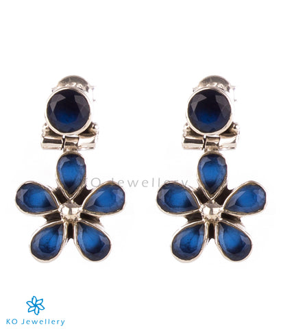 Small and light semi-precious blue zircon earrings online shopping