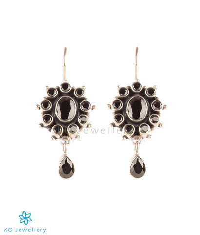 Small and light semi-precious black zircon earrings online shopping India