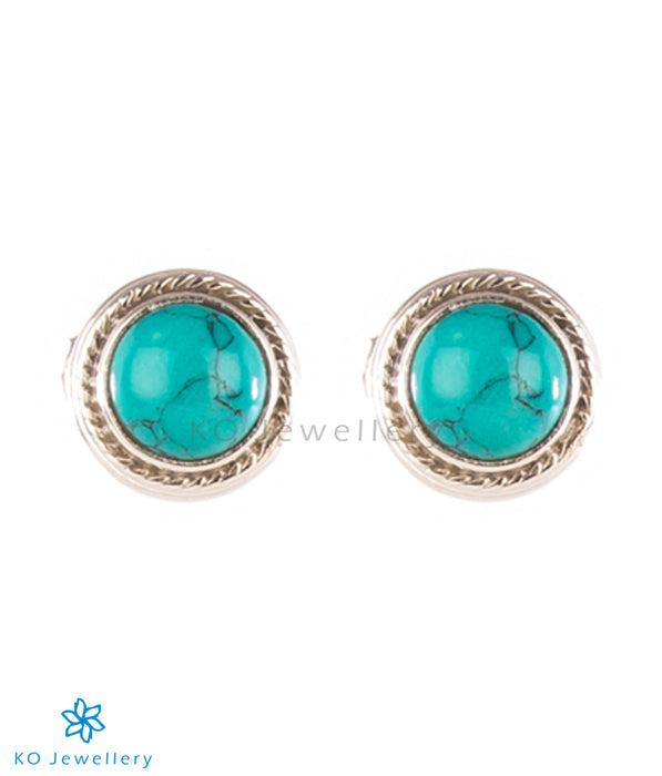The Prisha Silver Earrings (Turquoise)