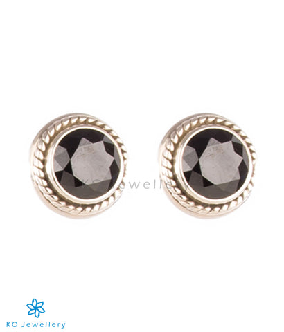 The Prisha Silver Earrings(Black)