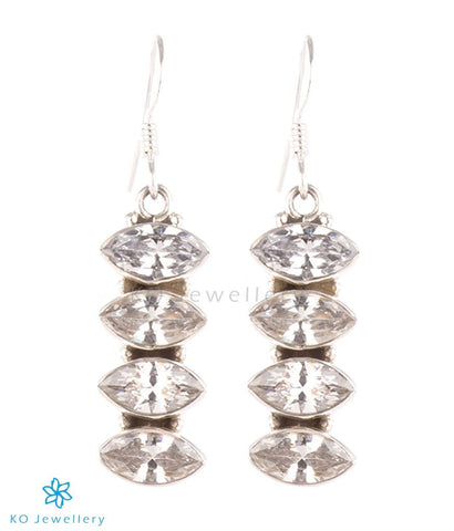 The Pratha Silver Gemstone Earrings-White