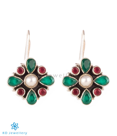 The Anaita Silver Gemstone Earring - Multi colour