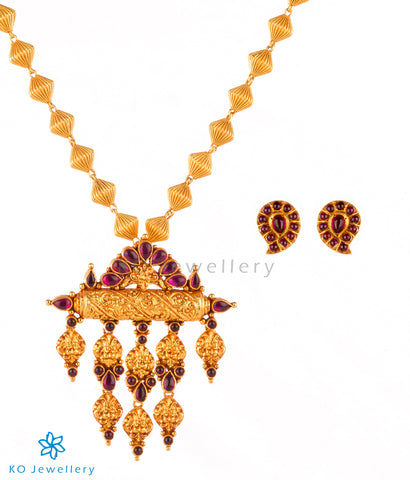 Handmade gold plated silver temple jewellery