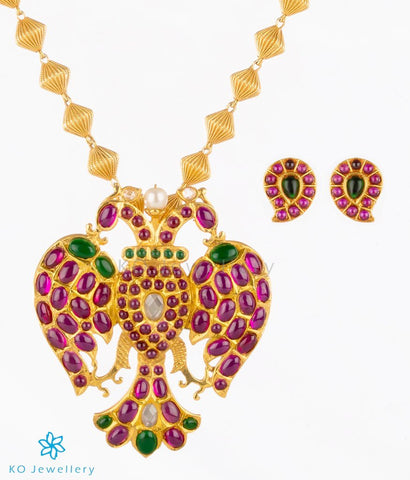 Ancient gold plated temple jewellery necklace online shopping