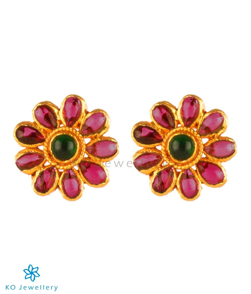 ff3abc30e The Sarga Silver Ear-studs-Buy Quality Gold Plated Jewellery Online ...
