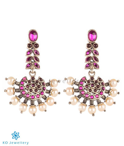 The Prajwal Silver Earrings (Oxidised)