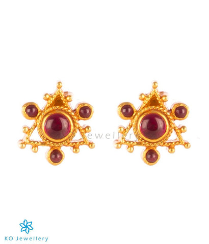 gold polish jewellery pure silver kempu stones