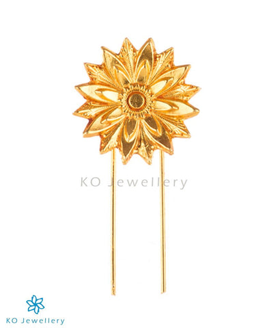 The Suryakanti Silver Bridal Hair Pin