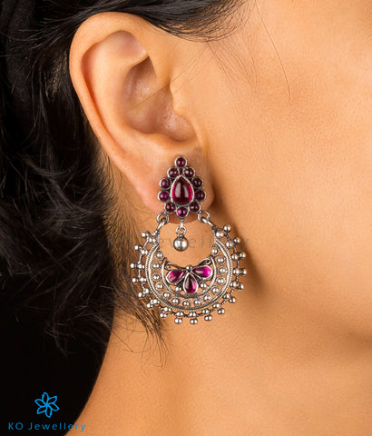 The Abhita Silver Chand Bali Earrings (Oxidised)