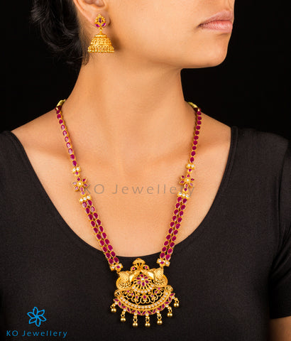 Exquisite gold plated silver temple jewellery