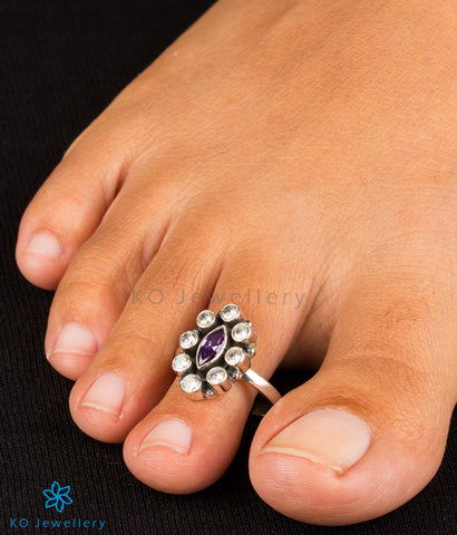 Buy handmade silver and semi-precious stone toe rings online