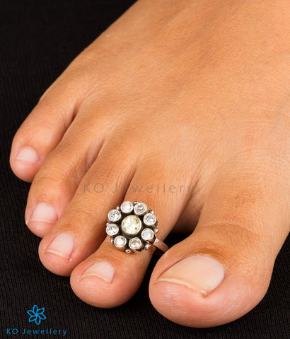 semi-precious stone toe-rings online shopping