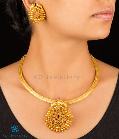 gold plated necklace set, INR 9800