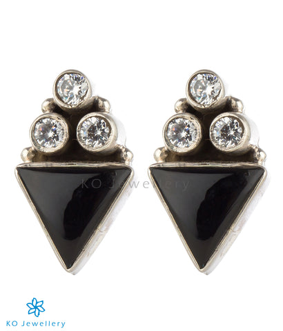 The Trium Silver Gemstone Earrings