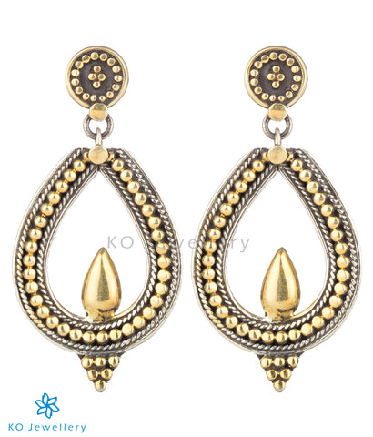 The Achintya Silver Earrings (Two-tone)