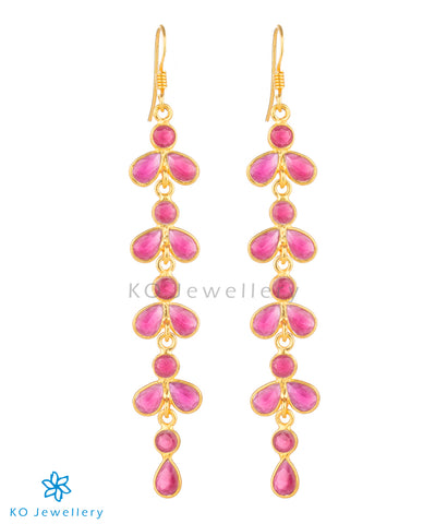 The Aham Silver Gemstone Earrings (Gold)