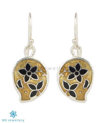 Paisley-shaped mina work earrings online