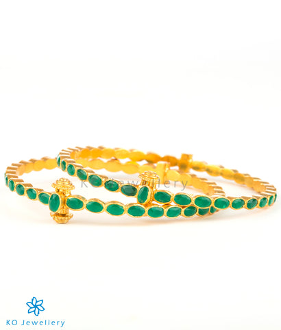 Handcrafted gold coated bangles online