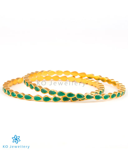 Gold plated silver bangle online at affordable price