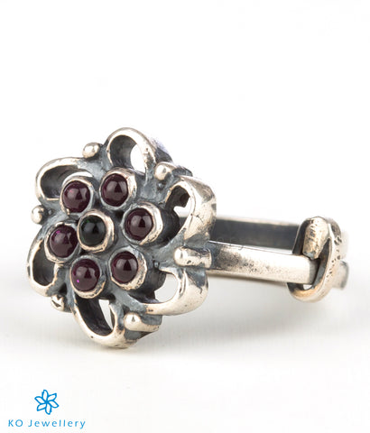 The Loukya Silver Finger Ring(Oxidised)