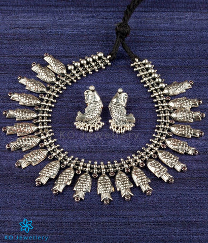 The Matsya Silver Necklace (Oxidised)