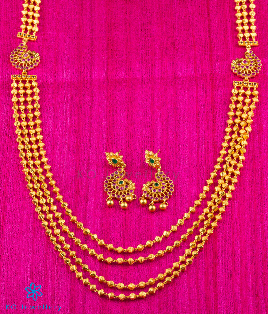 The Samhat Silver Layered Necklace Buy Silver Temple Jewellery