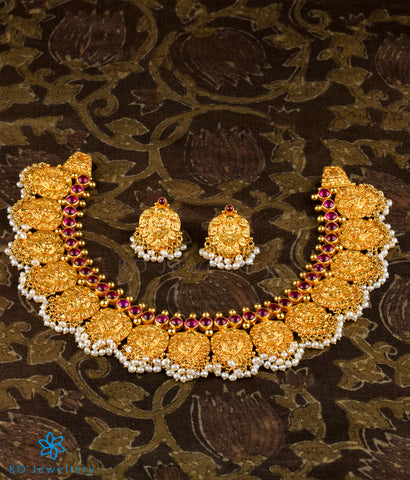 The Jahnavi Silver Nakkasi Necklace Set