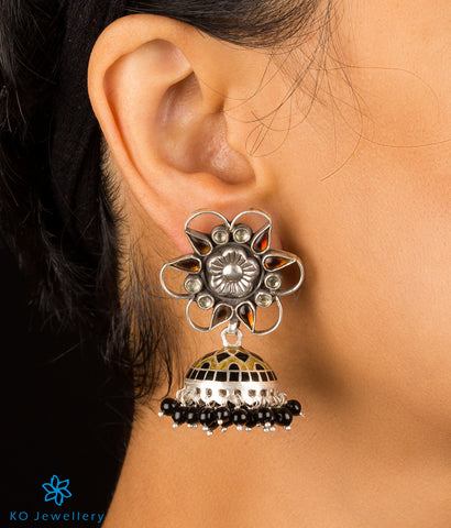 Buy handmade meenakari jhumkas online shopping at KO