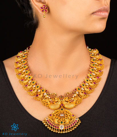 Handcrafted gold coated silver jewellery set