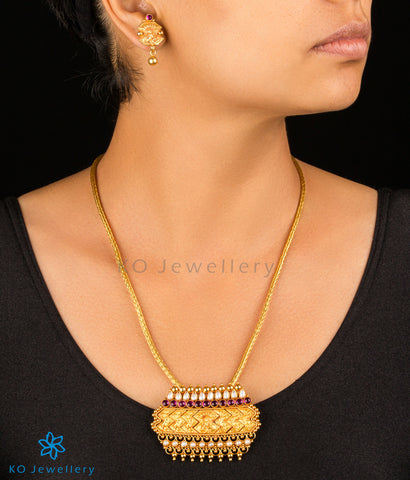 Handmade gold plated temple jewellery set with guarantee