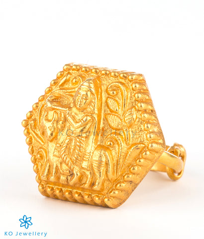 Ancient temple jewellery nakkasi finger-ring