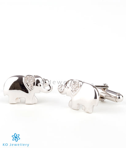 The Tusker Silver Cuff Links