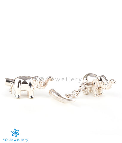 The Elephant Silver Cufflinks