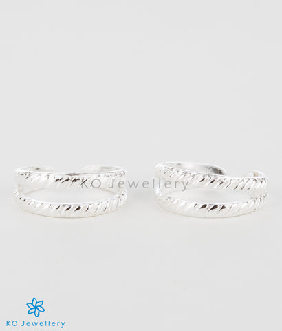 The Pranav Silver Toe-Rings