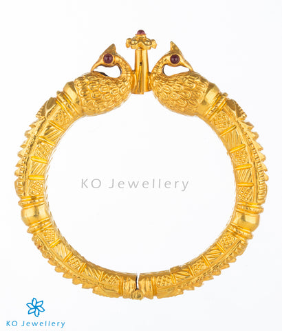Ancient temple jewellery bangles gold plated