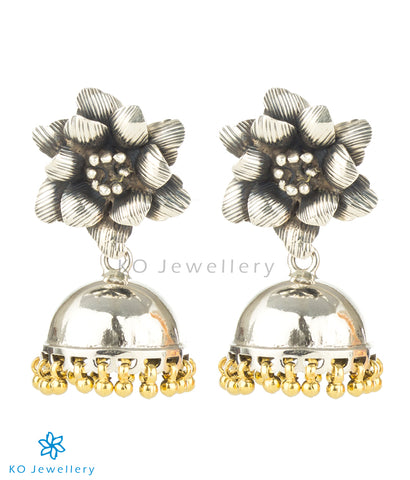 The Mohin Silver Jhumka (Two-tone)