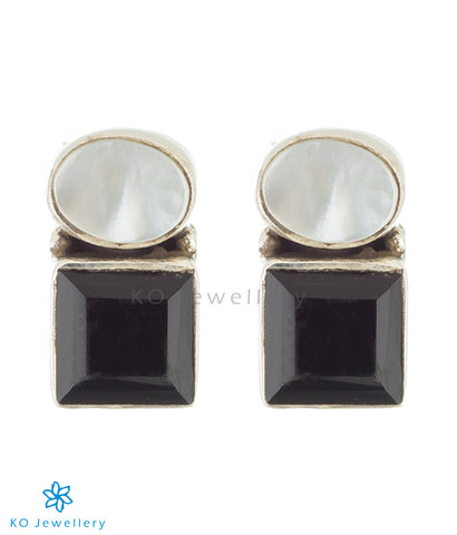 The Vidvat Silver Gemstone Earrings