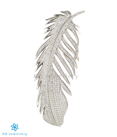 The Feather Silver Brooch