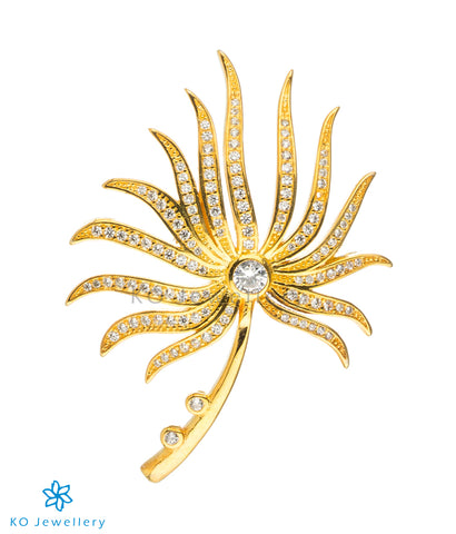 The Floret Silver Golden Brooch