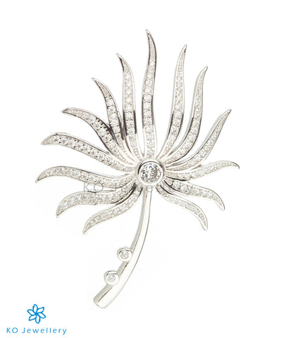 The Floret Silver Brooch