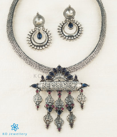 The Varnika Silver Pendant(Blue)